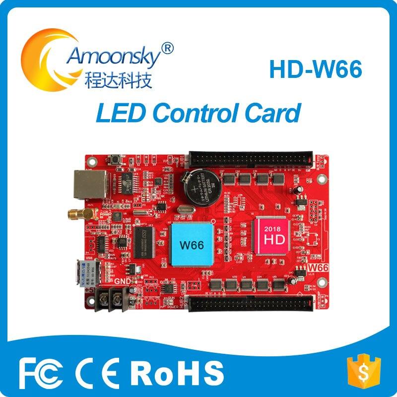 Huidu count remoto digital led tarjeta de control HD-W66 reemplazar HD-E66 para pantalla led exterior interior