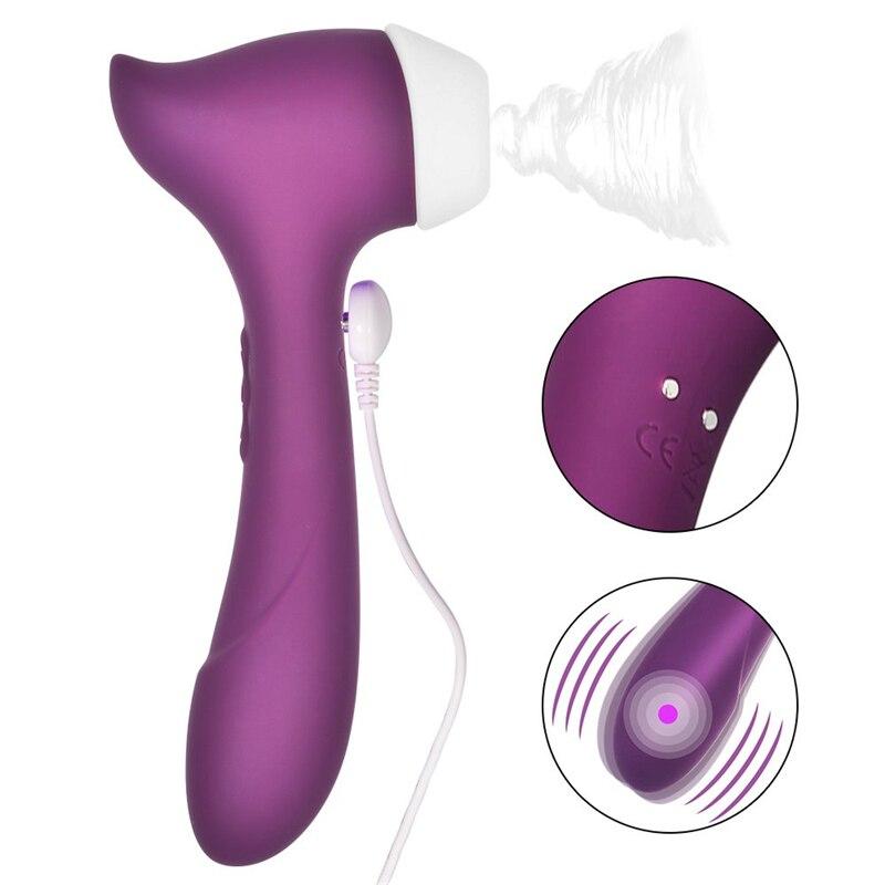 Potente vibrador para clítoris, resistente al agua, punto G, estimulador de clítoris, pezón, succionador de clítoris, Sex Shop para mujer