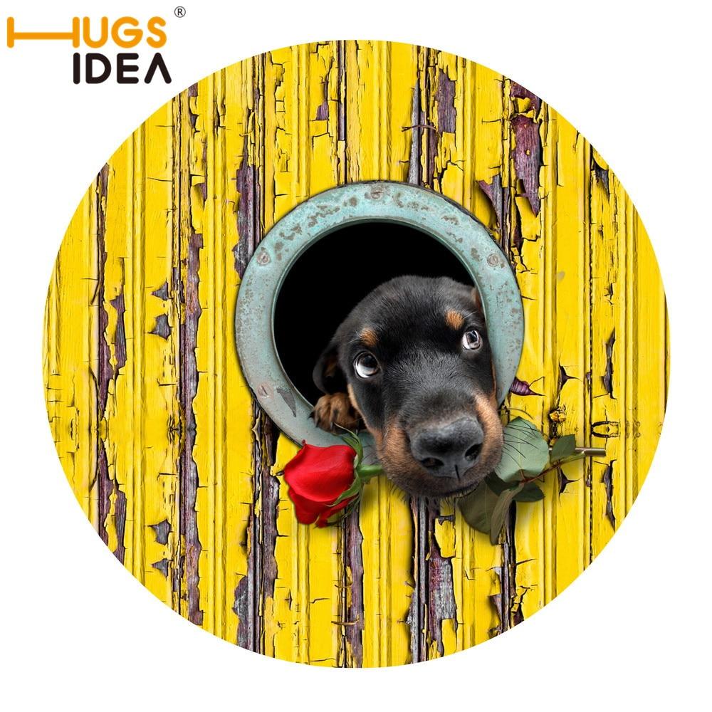 Alfombras hugsiera 3D para perros/Alfombra con rosas redondas de Alfombra, Tapetes antideslizantes, color amarillo, gris, alfombras y Tapetes para niños, Tapetes para jugar en el dormitorio