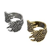 Retro Bear Claw Eagle Claw Oude Zilver Brons Ring Viking Nordic Verstelbare Dier Poot Pet Mythe Mannelijke Ringen sieraden gift