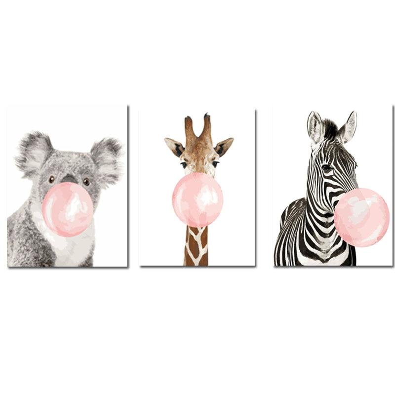 CHENISTORY 60x75cm Quadro Diy Pintura Por Números Kit Zebra Animal Retrato Da Arte Da Parede Por Números Colorir Por números Para Decoração de Casa