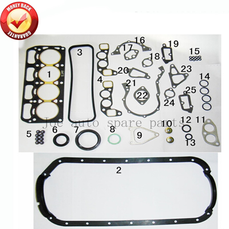 Полный комплект прокладок двигателя 3K 3KC для Toyota Corolla Starlet 1,2л 1166cc 1972-82 50029100 0411124040 0411124021 0411124020
