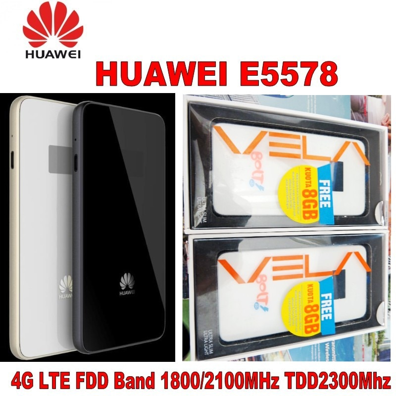 Lot of 20pcs Huawei E5578 4G LTE Cat4 Mobile Hotspot ultra thin with led screen enlarge