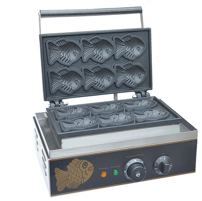كوريا البسيطة Taiyaki صانع الأسماك شكل الهراء صانع الخبز الكهربائية آلة الكهروحرارية وجبة خفيفة معدات FY-112
