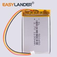 3 fils 523450 3.7V,1100mAH,[503450] PLIB; Polymère lithium ion / Li-ion batterie pour casque dvr Cor sair vide RGB