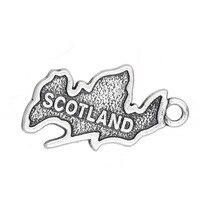 Mein form 15*23mm Land Karte Schottland Patriotische Charme Reise Schmuck 30 stücke