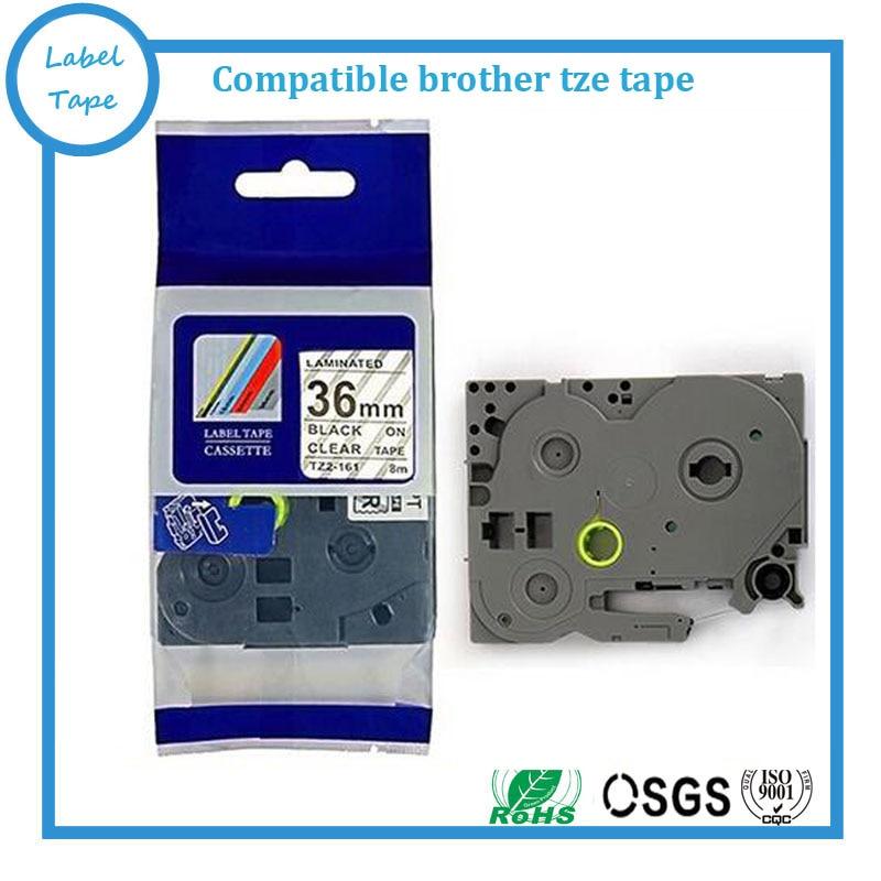 Kompatibel TZ band TZ-161 tz161 Schwarz Auf Klar p-touch tze161 tz 161