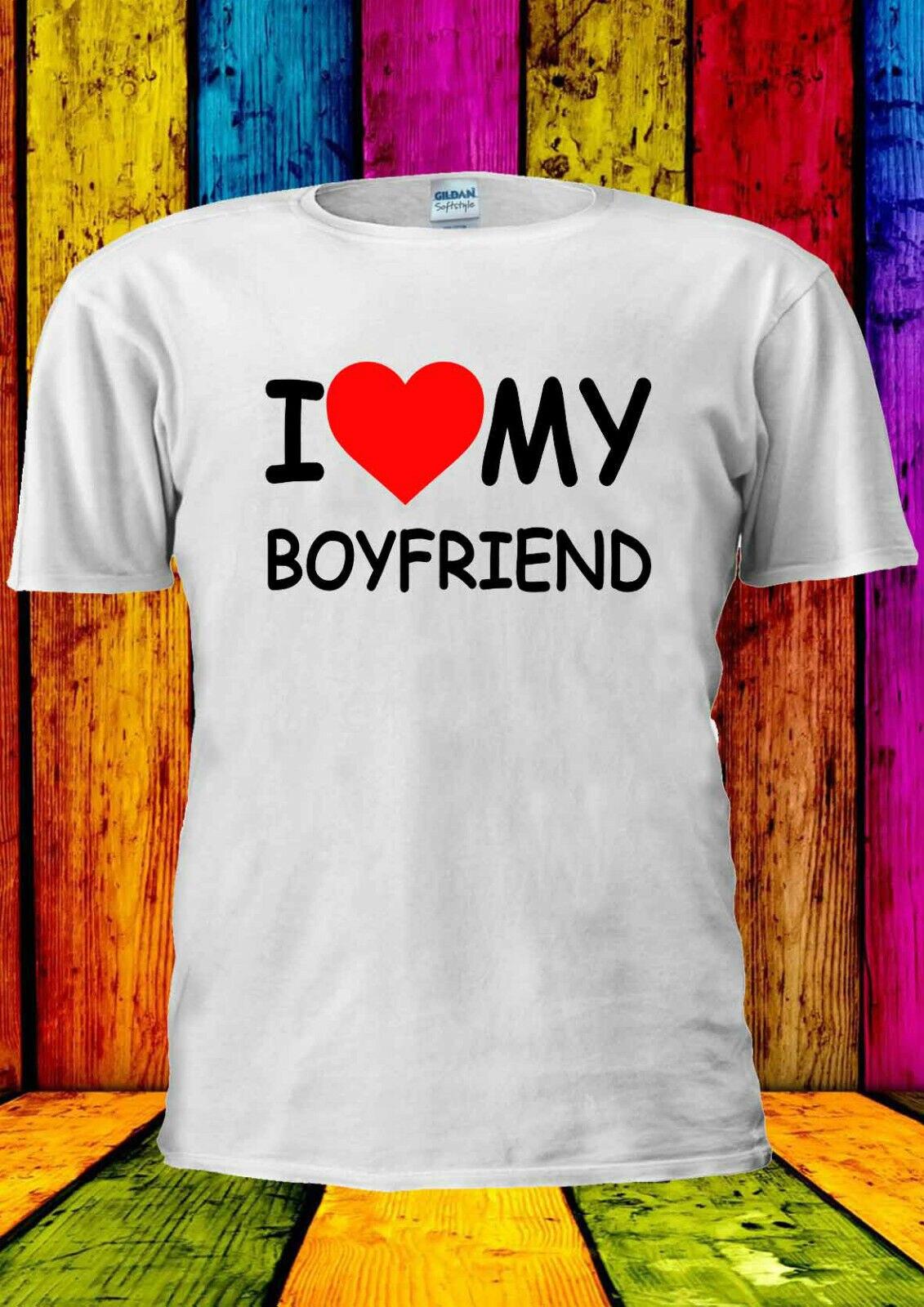 2019 Cool amo a mi novio corazón Tumblr camiseta hombres mujeres Unisex 1801 Tee Sudadera con capucha