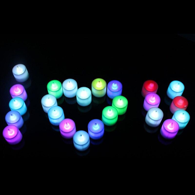 Vela electrónica sin llama con cambio de 7 colores, lámpara de fiesta en casa, decoración para triangulación de envíos
