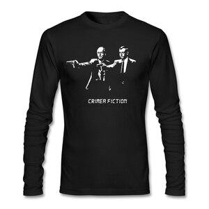 Fabic Korean Style Pulp Fiction T-shirts Men's Dark Grey uniform Customize Crimea fiction t shirt for Men