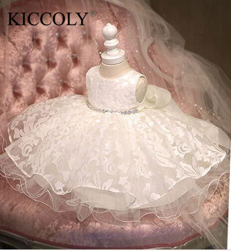 Robe de baptême pour bébés filles   En mousseline, scintillante, tenue danniversaire pour nourrissons de 1 an, pour enfants, bonne qualité