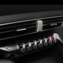 Ze stali nierdzewnej dla Peugeot 3008 GT 5008 2017 2018 klimatyzator samochodowy wylot dekoracji pokrywa akcesoria do wykończeń samochodowych stylizacji 1 sztuk