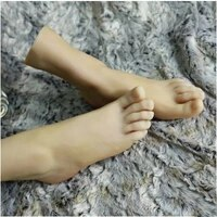 free shipping hot selling silicone foot model female feet foot thong style sandal shoes mannequin for shoe foot display