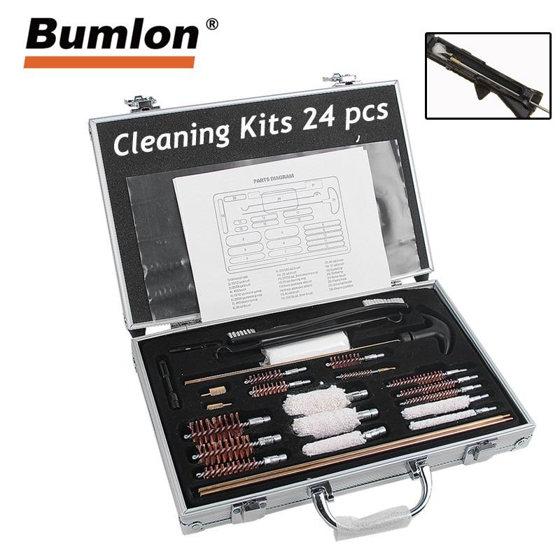 24 PCS Professionelle Universal Gun Reinigung Kit Gun Pinsel Werkzeug Jagd Airsoft Reinigung set Gewehr Pistole Airsoft Reiniger Kit 37 -92
