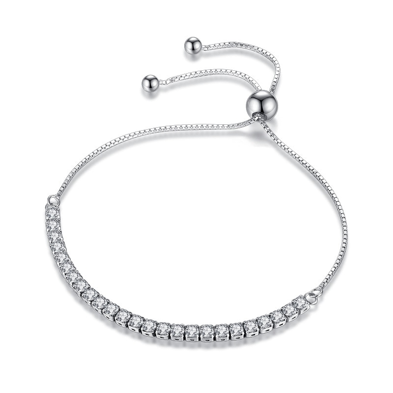 XIYANIKE Featured Brand DEALS 925 Sterling Silver Sparkling Strand Bracelet Women Link Tennis Bracel