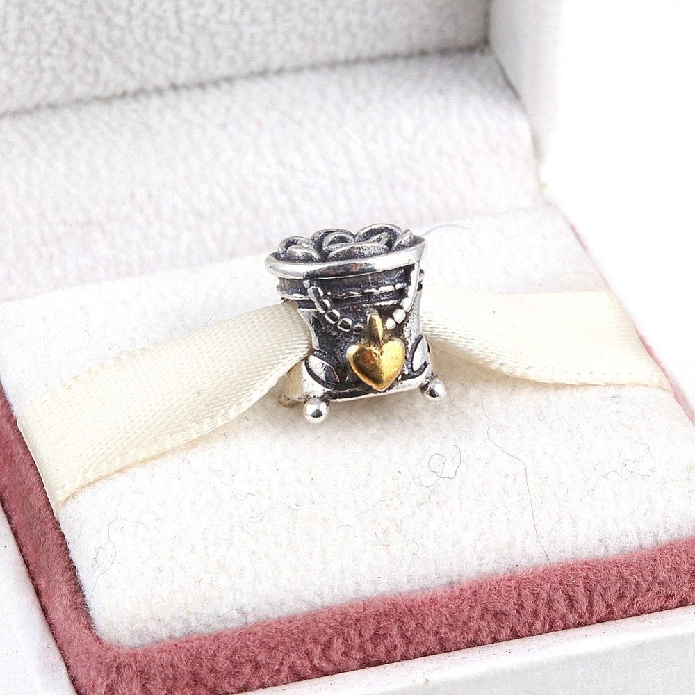ZMZY Original 925 Sterling Silver Charms Jewelry Box Spiral Hole Fit Pandora Bracelet Bangle Jewelry