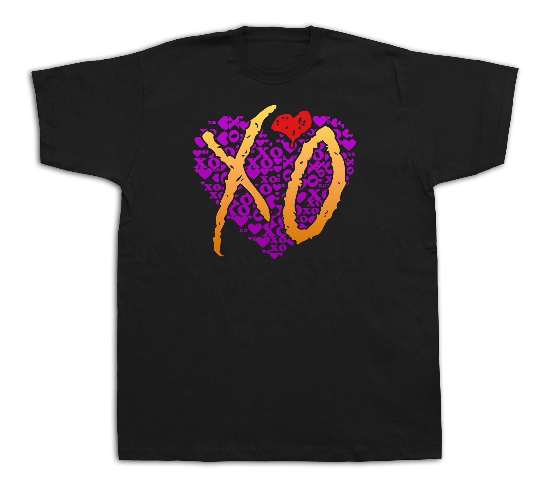 Xo amor corazón BFF amigo camisetas de algodón tee de moda gráfico de dibujos animados de impresión Cool Casual pride camiseta hombres Unisex nueva moda