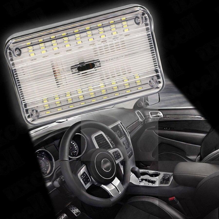 YCCPAUTO 1 Uds 12V 36 LED luz de techo Interior del coche techo del vehículo lámpara de techo de lectura Auto LED luz de noche blanca Universal