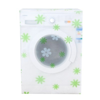 Waterproof sunscreen washing machine cover transparent printing automatic washing machine drum type dustproof cover enlarge