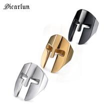 DICARLUN masque anneau acier inoxydable spartiate casque guerrier anneau hommes Punk argent or noir gothique bijoux mâle fête bijoux