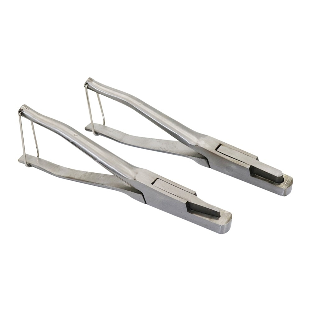 1 Pcs Stainless Steel U-shaped And V-shaped Ear Tongs Pliers Missing Pig Ear Tag Pliers Pig Equipment Farm Animals