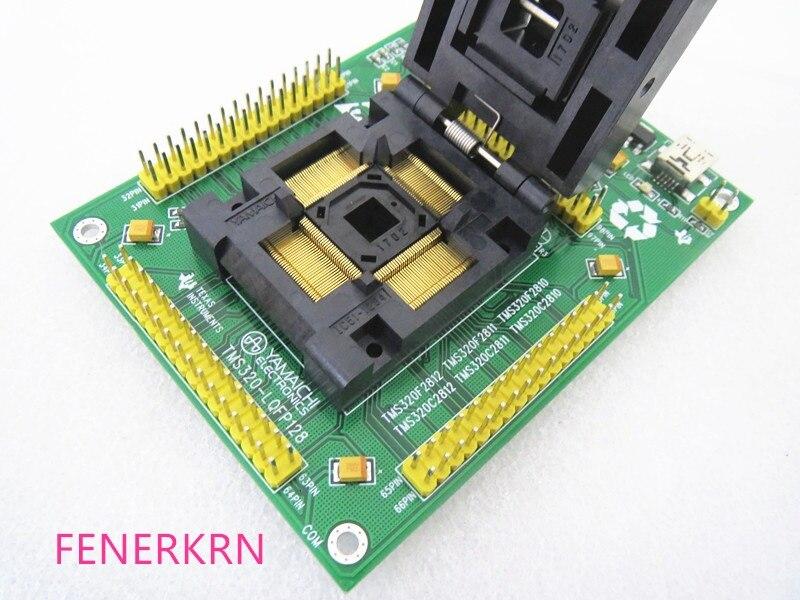 صدفي TMS320-LQFP128 TMS320C2812 TMS320C2811 TMS320C2810 IC حرق محول مقعد اختبار مقعد اختبار المقبس اختبار مقاعد البدلاء