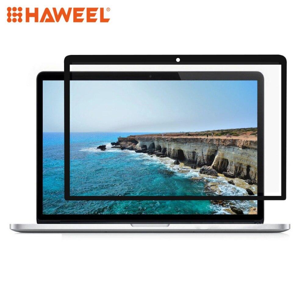 HAWEEL 0,3mm 6H dureza de la superficie HD a prueba de arañazos película de PET para MacBook Pro Retina 13,3 pulgadas (A1425/A1502) (negro)
