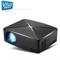 ViviBright     Mini projecteur LED C80 pour Home cinema  Android 6 0  resolution 1280x720  compatible Full HD 1080P  nouveau