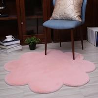 flower shape Rug Carpets for Living Room Decor Faux Fur Carpet Kids Room Long Plush Rugs for Bedroom Shaggy Area Rug Modern Mat
