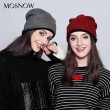 Laine hiver chapeaux pour femmes élégant Double couche Extra épais tricoté mode nouveau 2019 chapeau femme Skullies bonnets # MZ724