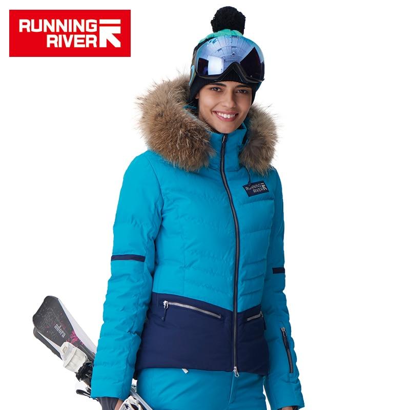 RUNNING RIVER Brand Women Ski Jacket 4 Colors Size S -2XL Waterproof Ski Snow Jacket Women Winter Outdoor Sports Coat #D6140