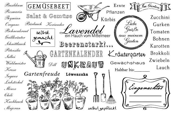 Texto alemán beerenstark sellos transparentes manualidades de papel de álbum de recortes sello transparente álbum de recortes X0294