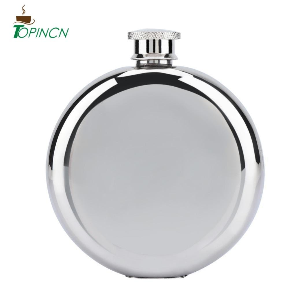 5oz/150mL botella de whisky de vino portátil de acero inoxidable botella redonda de Alcohol regalos de dama de honor FRASCO DE CADERA