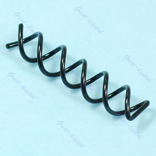 Clip de bobina para moño de cabello 10x de diseño especial, pasador de tornillo giratorio en espiral, pasador, Clip, peine
