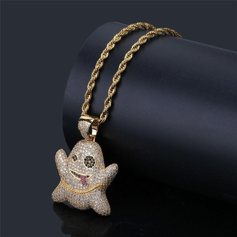 Ювелирные изделия в стиле хип-хоп подвеска в виде голубя ожерелье с золотой цепочкой для мужчин микро проложить циркониевое ожерелье с живо...