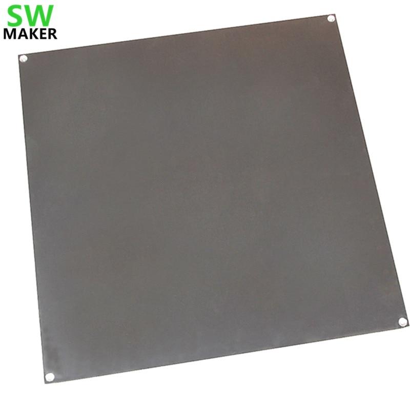 طابعة ثلاثية الأبعاد حجم كبير السرير الساخن الألومنيوم التدفئة الطباعة منصة دعم منصة 320*320*3 مللي متر