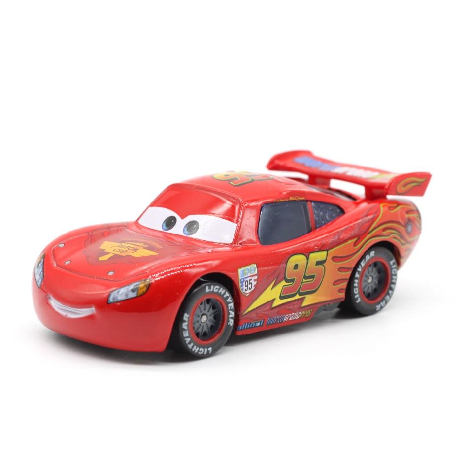 Samochody disney pixar 3 zygzak mcqueen Mater Jackson Storm 1:55 odlewane modele ze stopu metalu Model samochodu urodziny noworoczny prezent zabawka dla chłopca