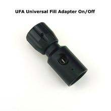 Adaptateur universel de remplissage CO2, bobine de PCP à Air Paintball tuyau à distance UFA adaptateur universel de remplissage pour le CO2, On/Off ASA Paintball, accessoire-noir