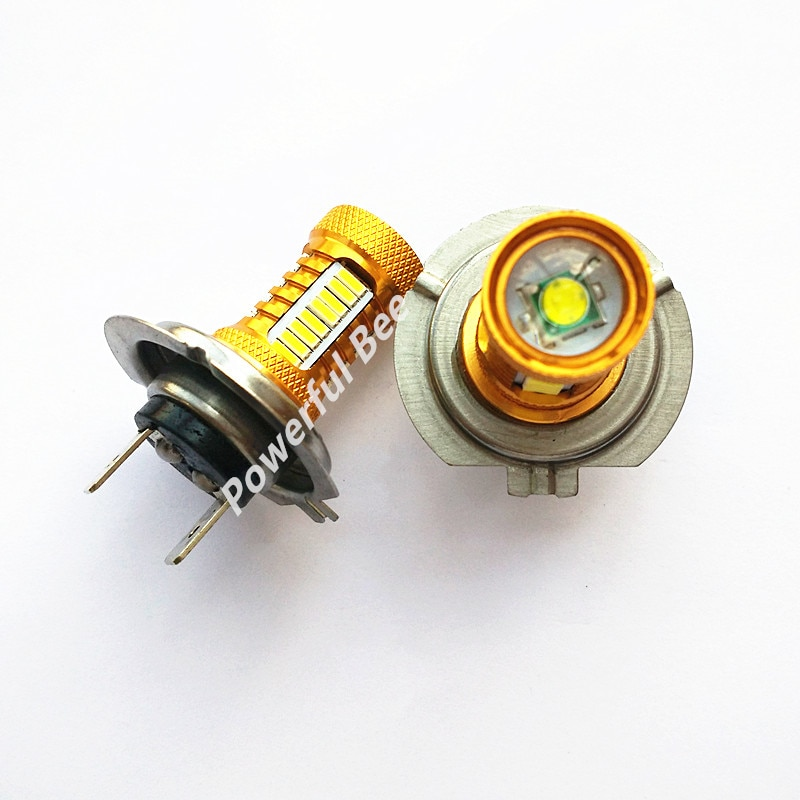 2 x H7 18W 700LM супер белый светодиод 4014SMD + Q5 дневные ходовые Противотуманные фары лампы для автомобиля DC12V мотоцикла healight