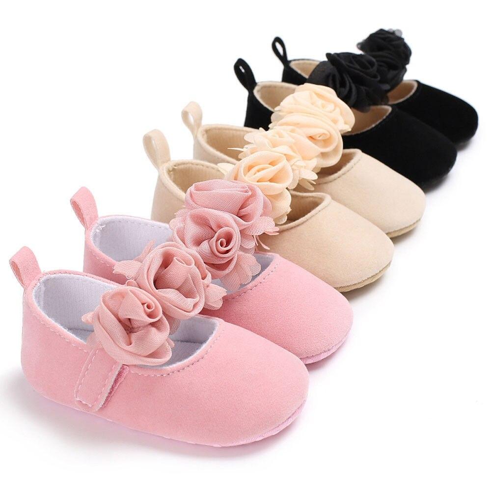 Pudcoco 0-18M Baby Newborn Toddler Girl Silk Big Flower Crib Shoes Anti-slip Cloth Soft Sole Pram First Walker moccasins