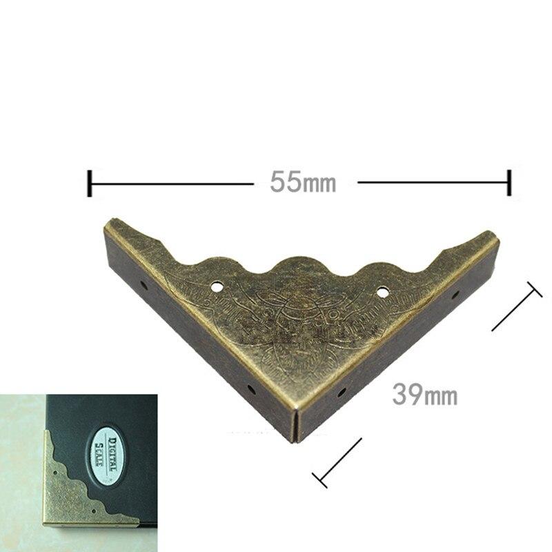 Wholesale Bronze Tone Book Scrapbooking Albums Menus Corner Protectors Metal Bat Corners For Books,40*40*10mm,Fit 10mm,200Pcs