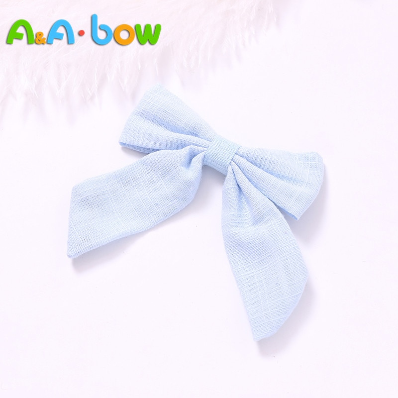 1pcs  Handmade Girl Bow Hairpins Hair clips 14 colors Big bow Headband For Babys Accessories Bowknot
