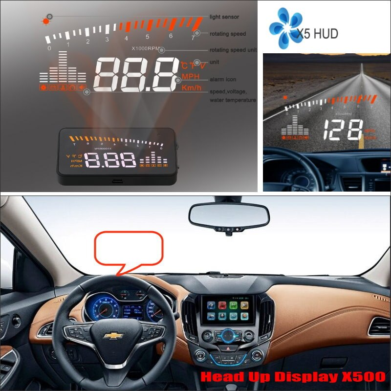 For Chevrolet Cruze/Malibu/Silverado 2010-2020 Car OBD HUD Head Up Display Driving Screen Projector - Reflecting Windshield