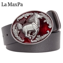 Ceinture en cuir pour hommes   Ceinture en peau de vache, boucle cheval sauvage, ceinture style cowboy de louest, ceinture pour femmes