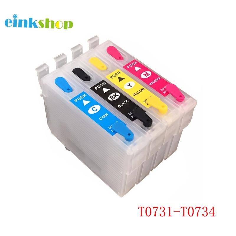 Einkshop 73N T0731-T0734 cartucho de tinta rellenable para Epson Stylus CX7300 CX8300 TX210 CX3900 CX4900 CX5600 CX5900 CX7310