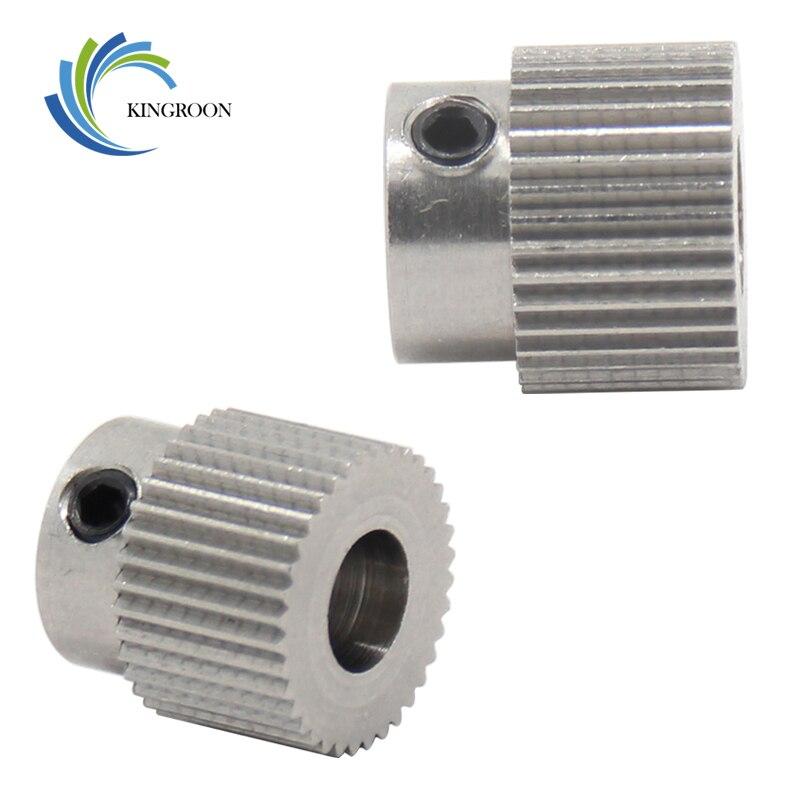 MK7 MK8 Gear 36 tooth Extruder Feeder Driver Teeth Pulley Bore 5mm 3D Printers Parts 36Teeth Tooth Wheels Part Stainless Steel