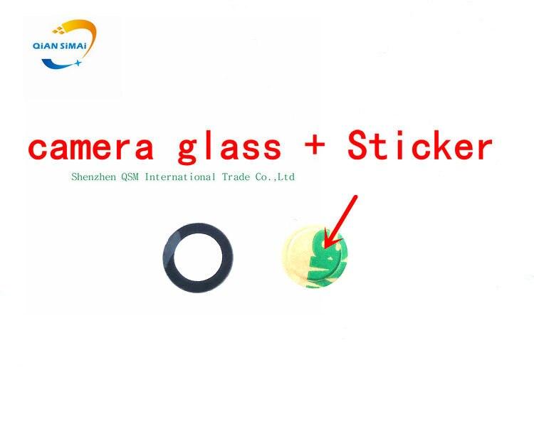 Линза объектива из оптического стекла 7,45 мм для Sony xperia Z1 MINI Z2 Z3 Z4 Z5, компактная задняя камера, объектив изготовлен из стекла с наклейкой