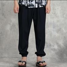 Pantalones de chef de cocina japonesa pantalones de camarera negros para hombre y mujer