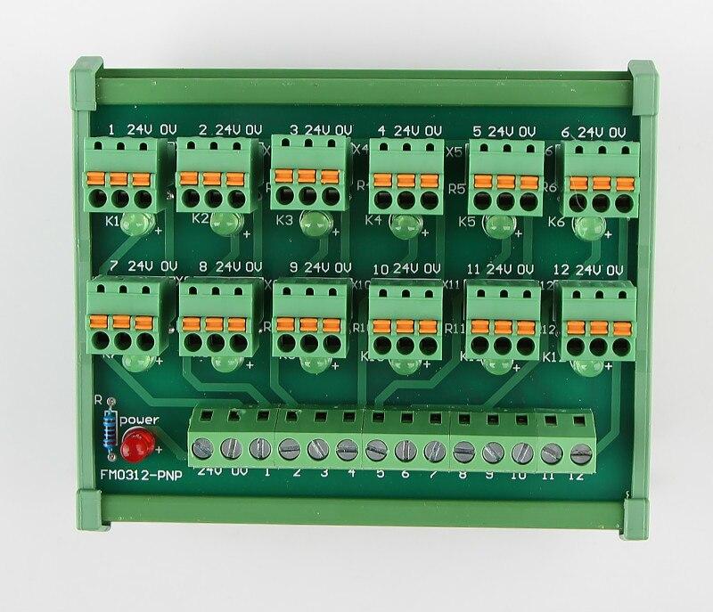 PLC 12-canal 3 2-wire-fio Primavera Conexão IO Fotoelétrico Sensor Do Interruptor De Proximidade NPN Entrada Terminal
