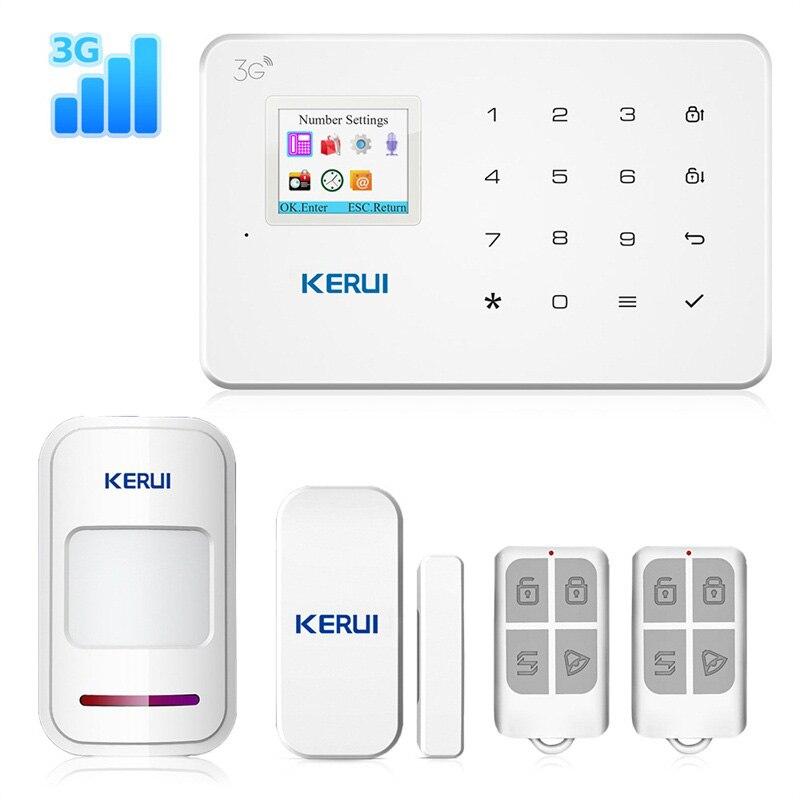 Беспроводная домашняя система охранной сигнализации KERUI G183 WCDMA 3G, GSM 3G, дистанционное управление через приложение, охранная сигнализация, датчик движения